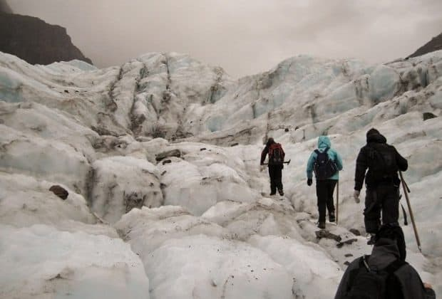 Free exploring on our Fox Glacier hike
