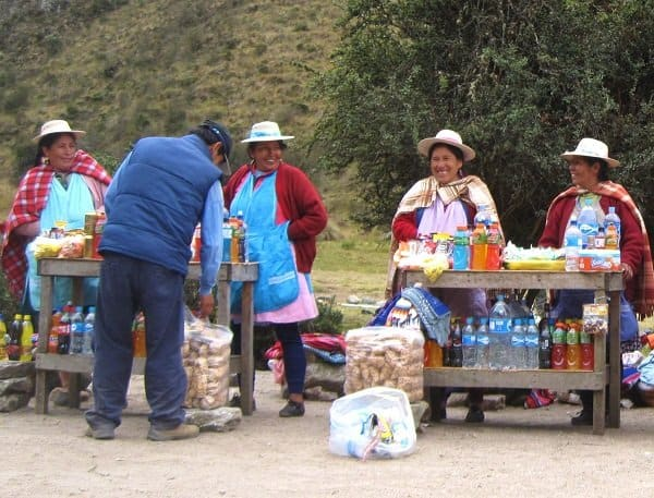 inca trail peruvian vendors