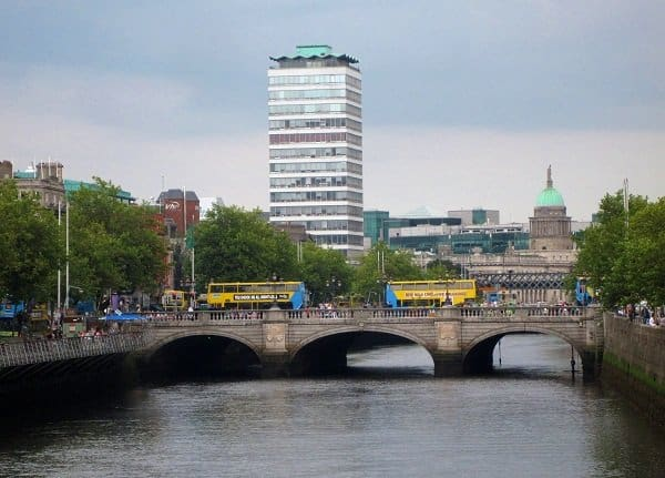 River Liffey bridge Dublin