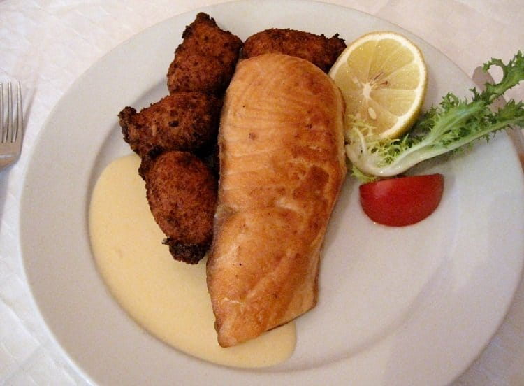 salmon wiuth croquettes cafe kor
