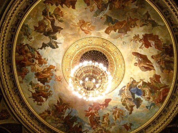 hungarian state opera house auditorium ceiling
