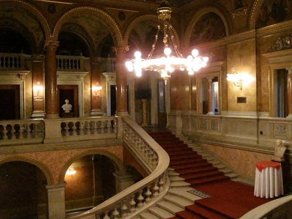 hungarian state opera house staircase