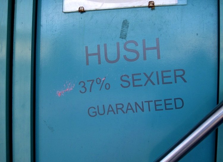 hush sign napier