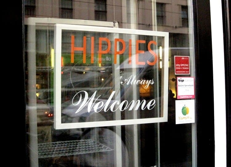 hippie welcome sign