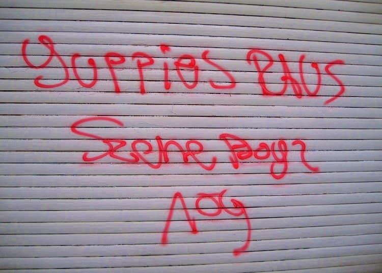 yuppy sign graffiti prenzlauerberg