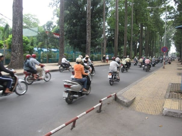 Motorcycles in Ho Chi Minh City