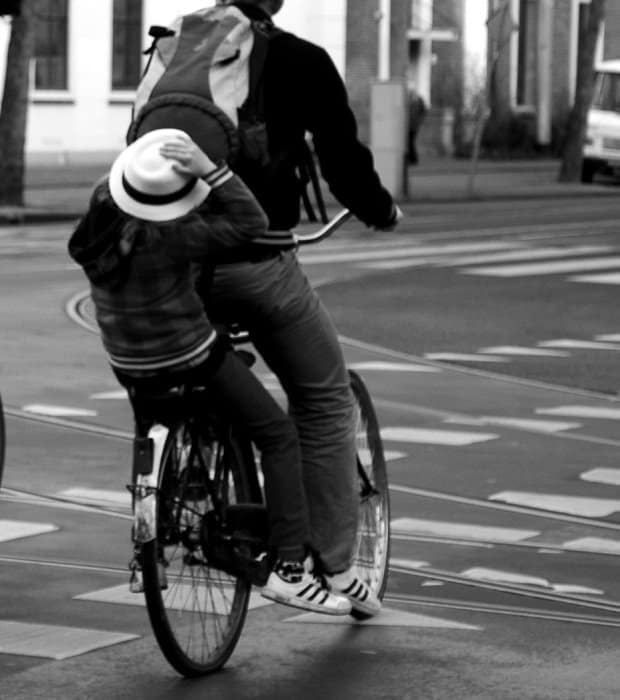 child on bike amsterdam