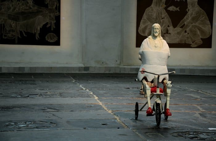 jesus on a tricycle art in redlight 8