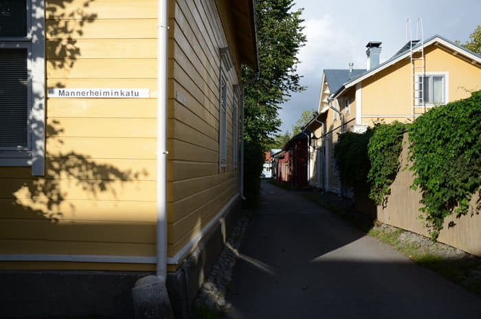 wooden houses naantali Old Town