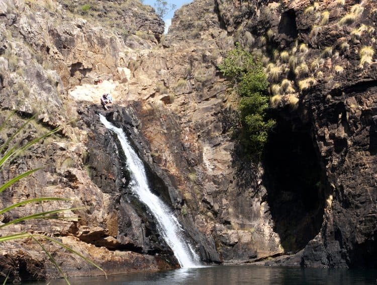waterhole and waterfall Kakadu
