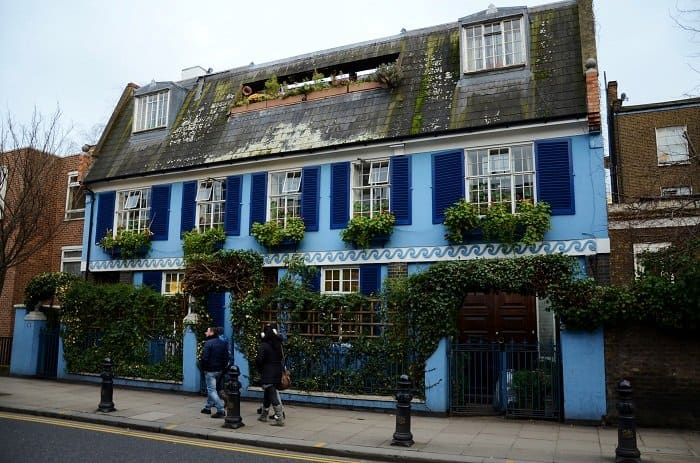 blue house portobello road