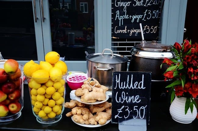 portobello road mulled wine table