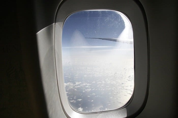 window seat on flight