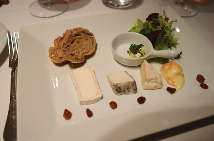 Cheese plate at Le Gourmet de Seze