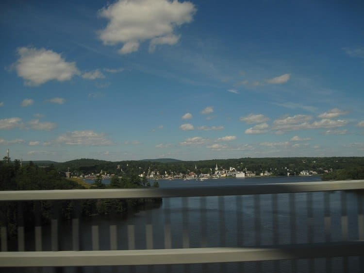 maine town from bridge