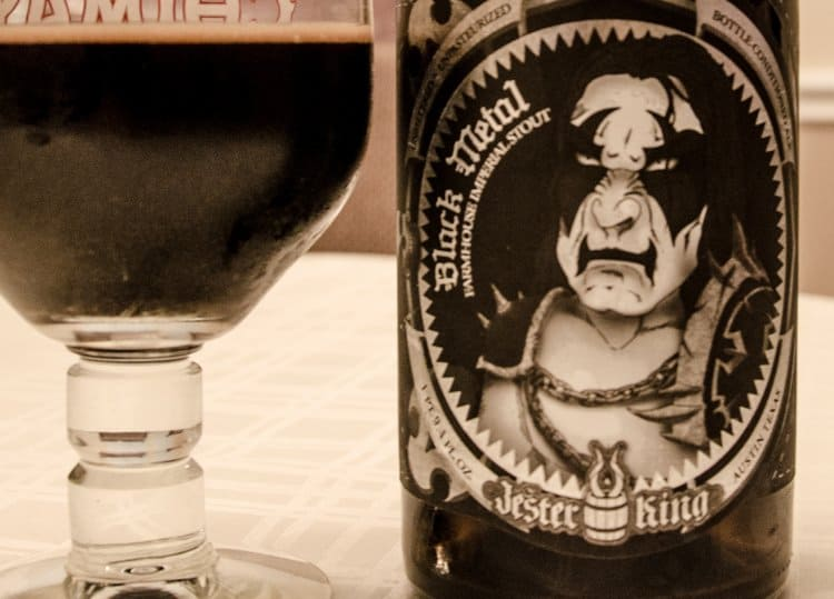black metal beer
