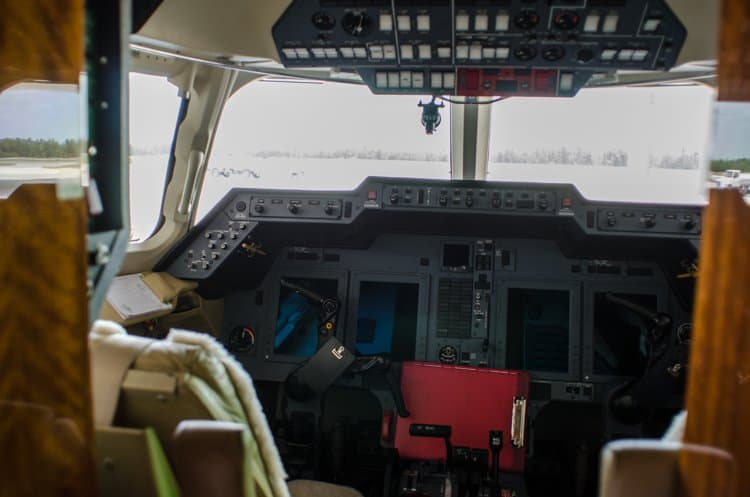 private jet cockpit
