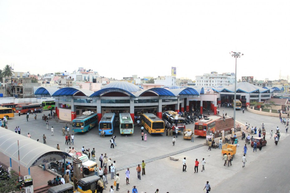 Bus station of the town of Hosur *