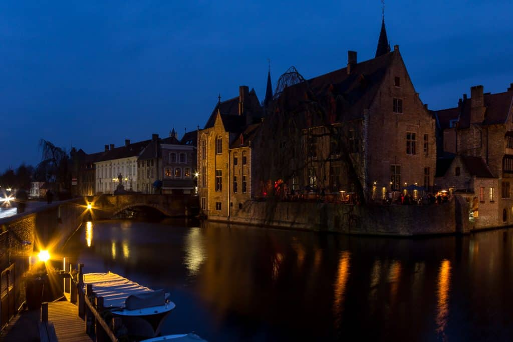 The Rozenhoedkaai, a living picture postcard in Bruges