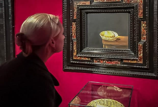 Admiring a Dali Bread Painting