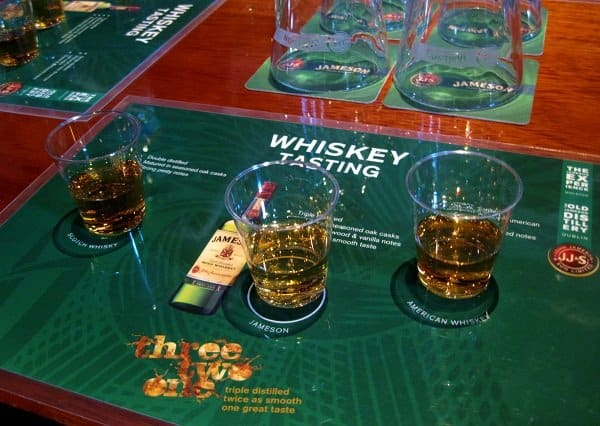 whiskey tasting samples jameson
