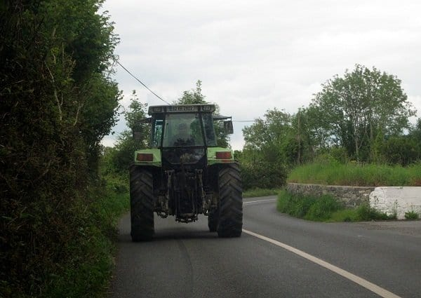 Ireland tractor on road