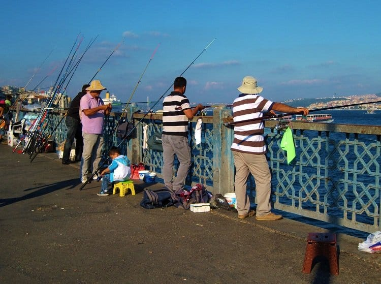 fishing in the bosphorus
