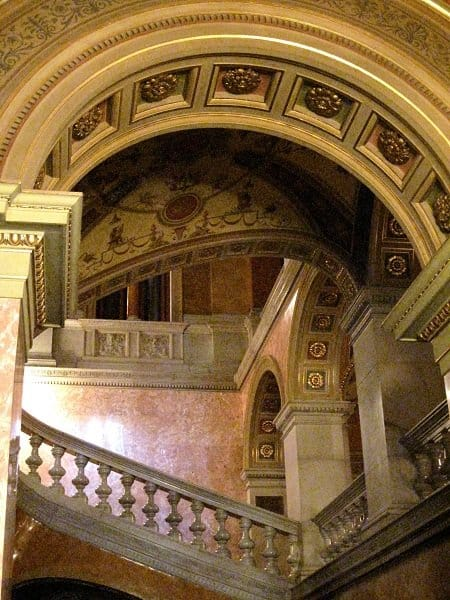 budapest opera house staircase