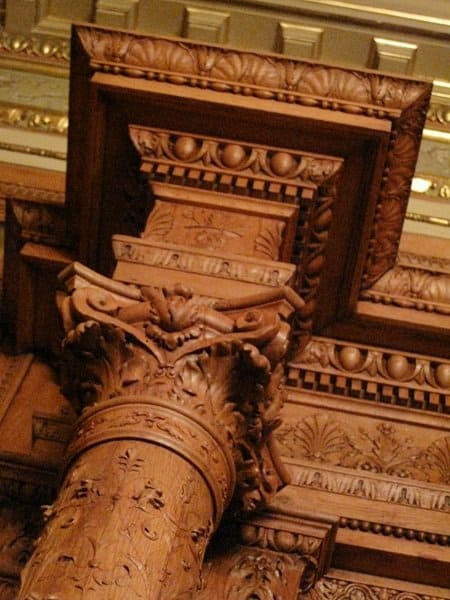 budapest opera house wood carvings