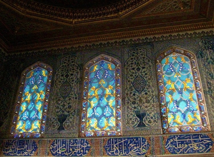 topkapi palace stained glass windows