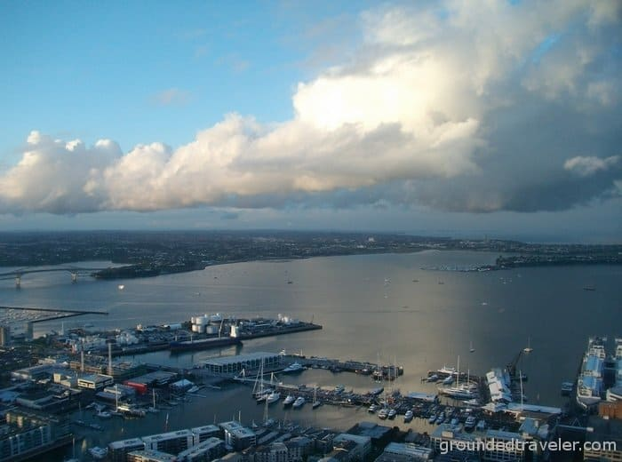 view from auckland skytower