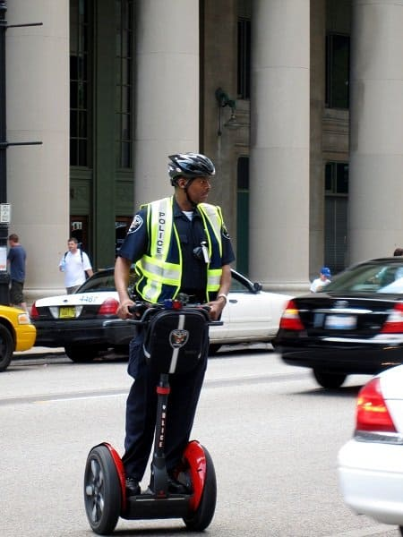 cop on a segway