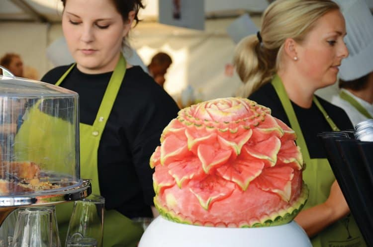 Gladmat 2012 pretty watermelon art