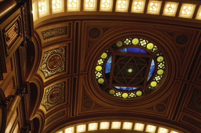 ceiling detail masonic temple philadelphia