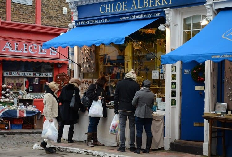 portobello road shoppers