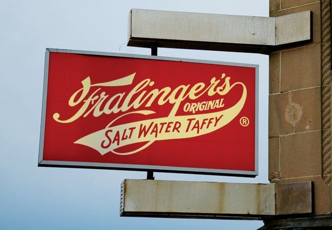 saltwater taffy sign