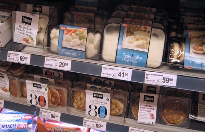 fish cakes fish balls supermarket norway