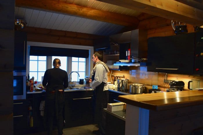 lyngen lodge kitchen