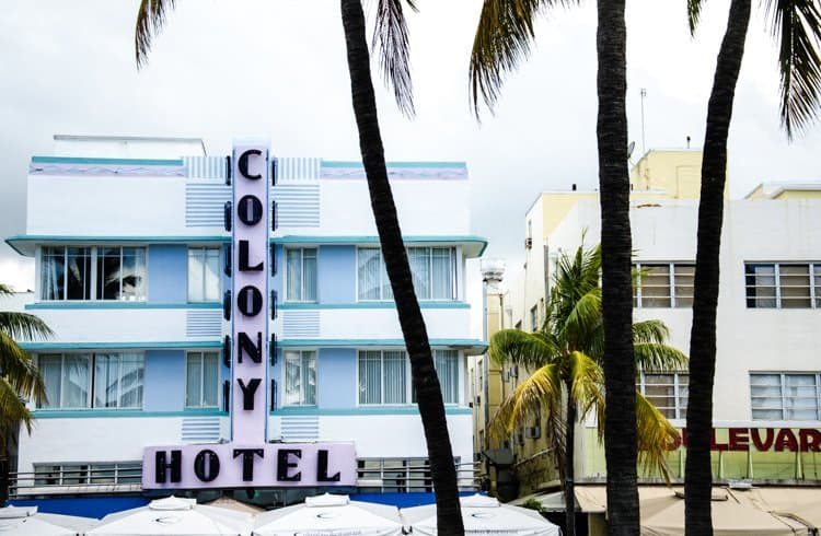Colony Hotel Ocean Drive Miami