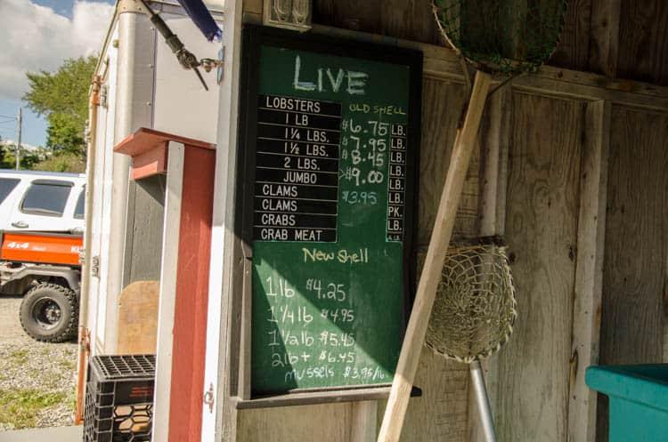 maine lobster menu