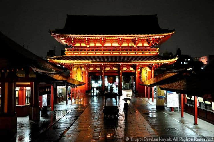 Sensoji temple night