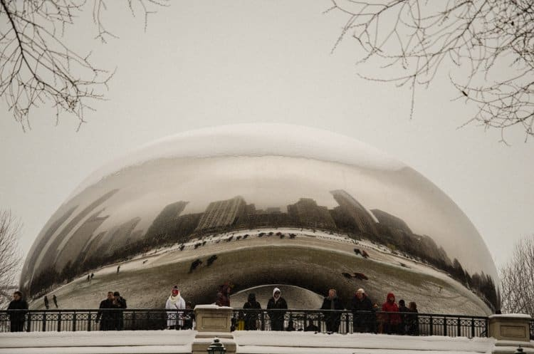 bean snow Chicago