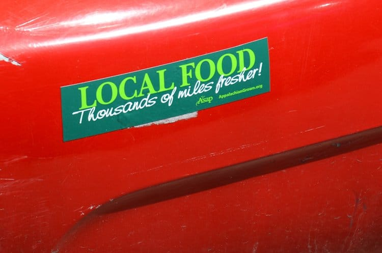 local food bumper sticker