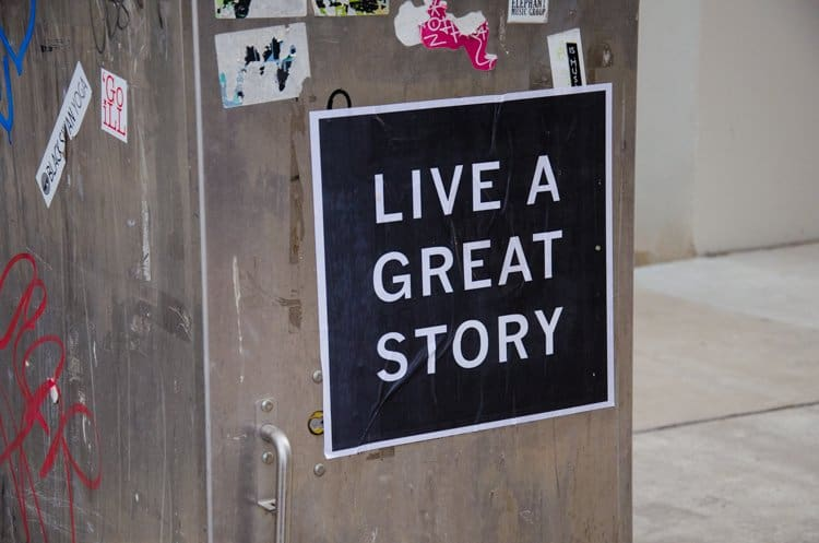 live a great story sticker