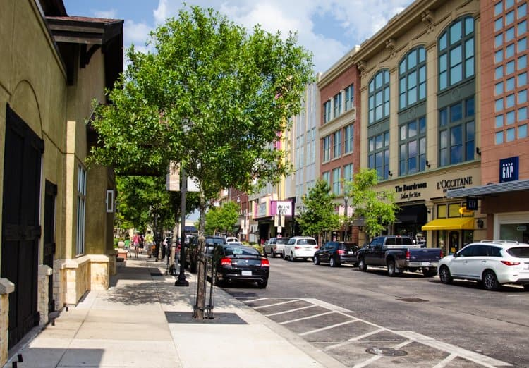 market street the woodlands shopping