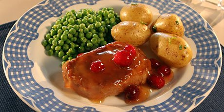 Orange and Cranberry Pork Chops