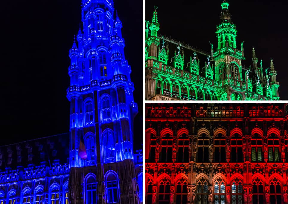 The historical façades of the Grand-Place