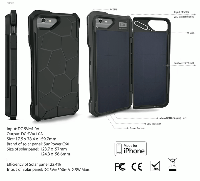 solar case specifications