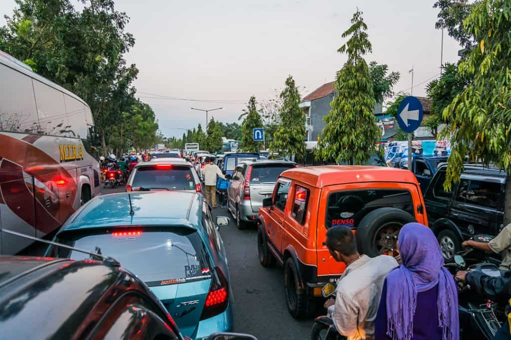 trip malong bromo traffic jams idul fitri