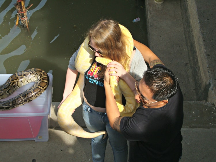 When you travel, you conquer your fear, just like this tourist in Bangkok, Thailand.